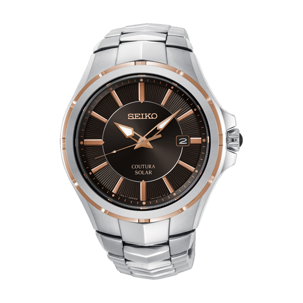 Seiko SNE512P Stainless Steel Solar Mens Watch