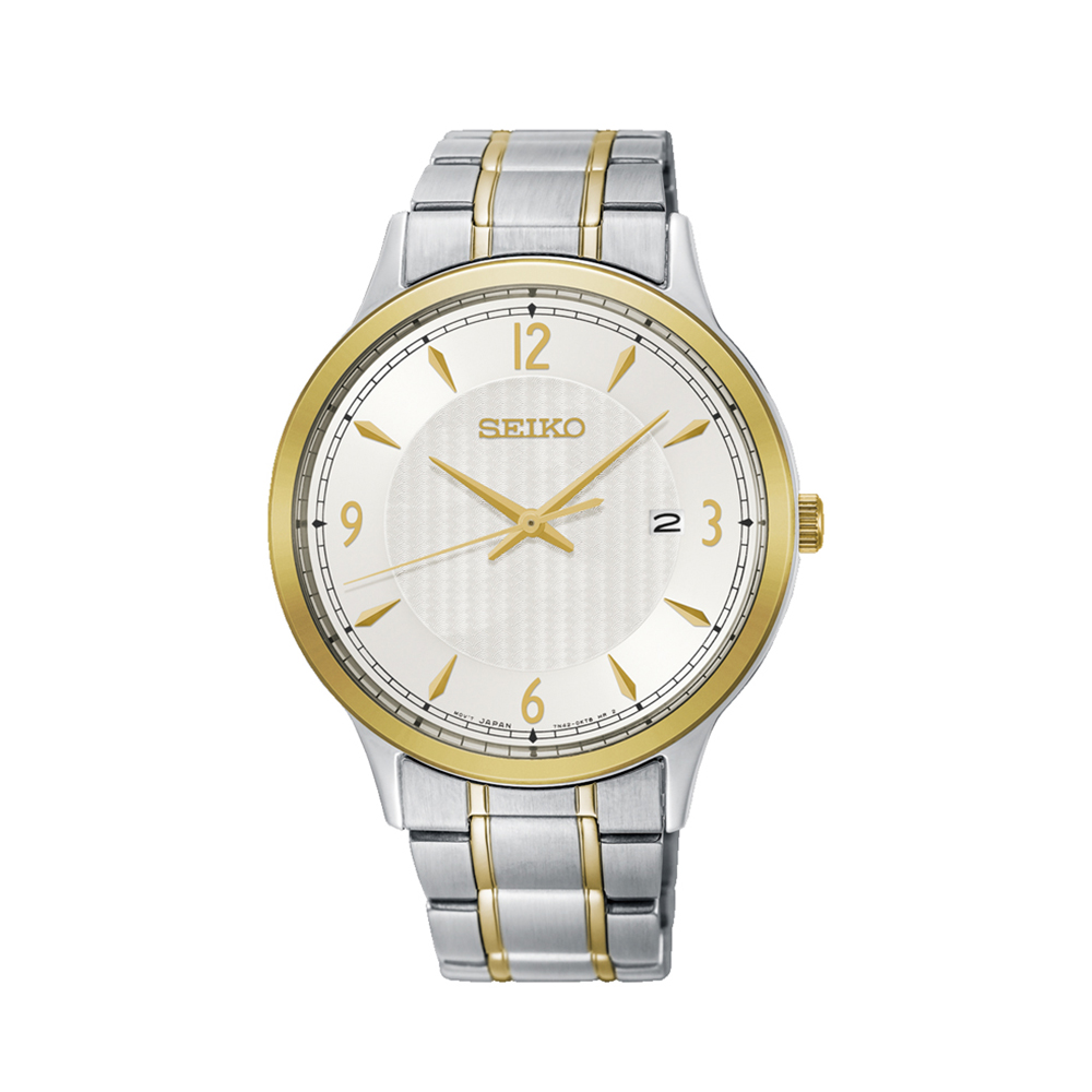 Seiko SGEH79P Stainless Steel Two Tone Mens Watch