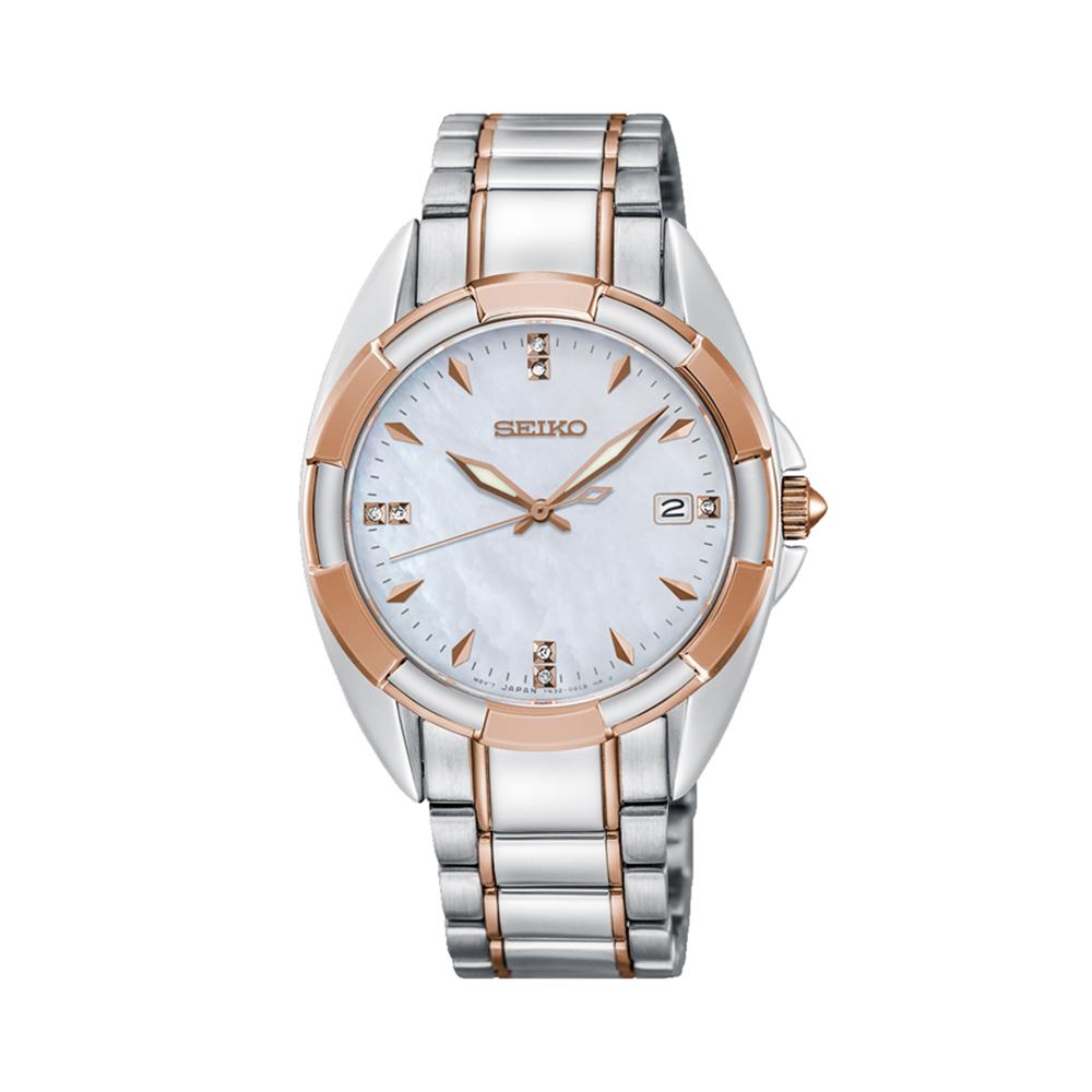Seiko SKK888P Two Tone Stainless Steel Ladies Watch With Diamonds