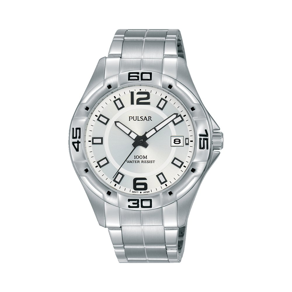 Pulsar PXHA65X Stainless Steel Silver Face Mens Work Watch