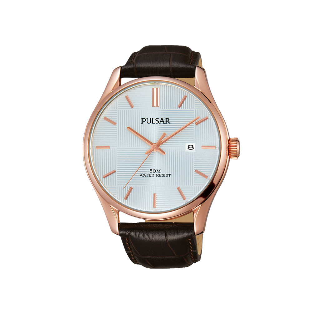 Pulsar PS9426X Rose And Brown Mens Watch