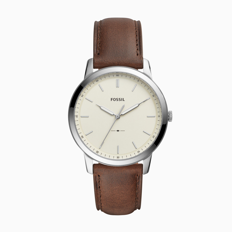 Fossil The Minimalist FS5439 Mens Brown Quartz Watch