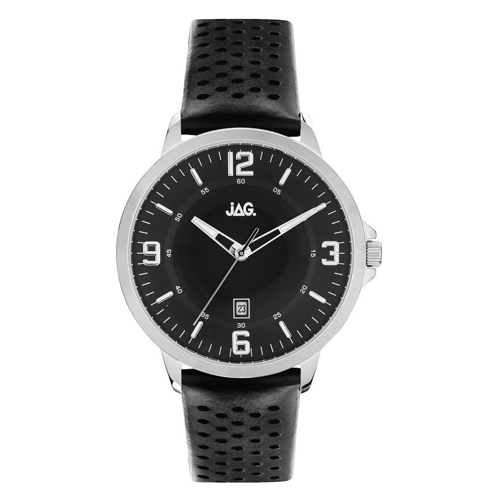 Jag Archie J2180 Black Leather Mens Watch