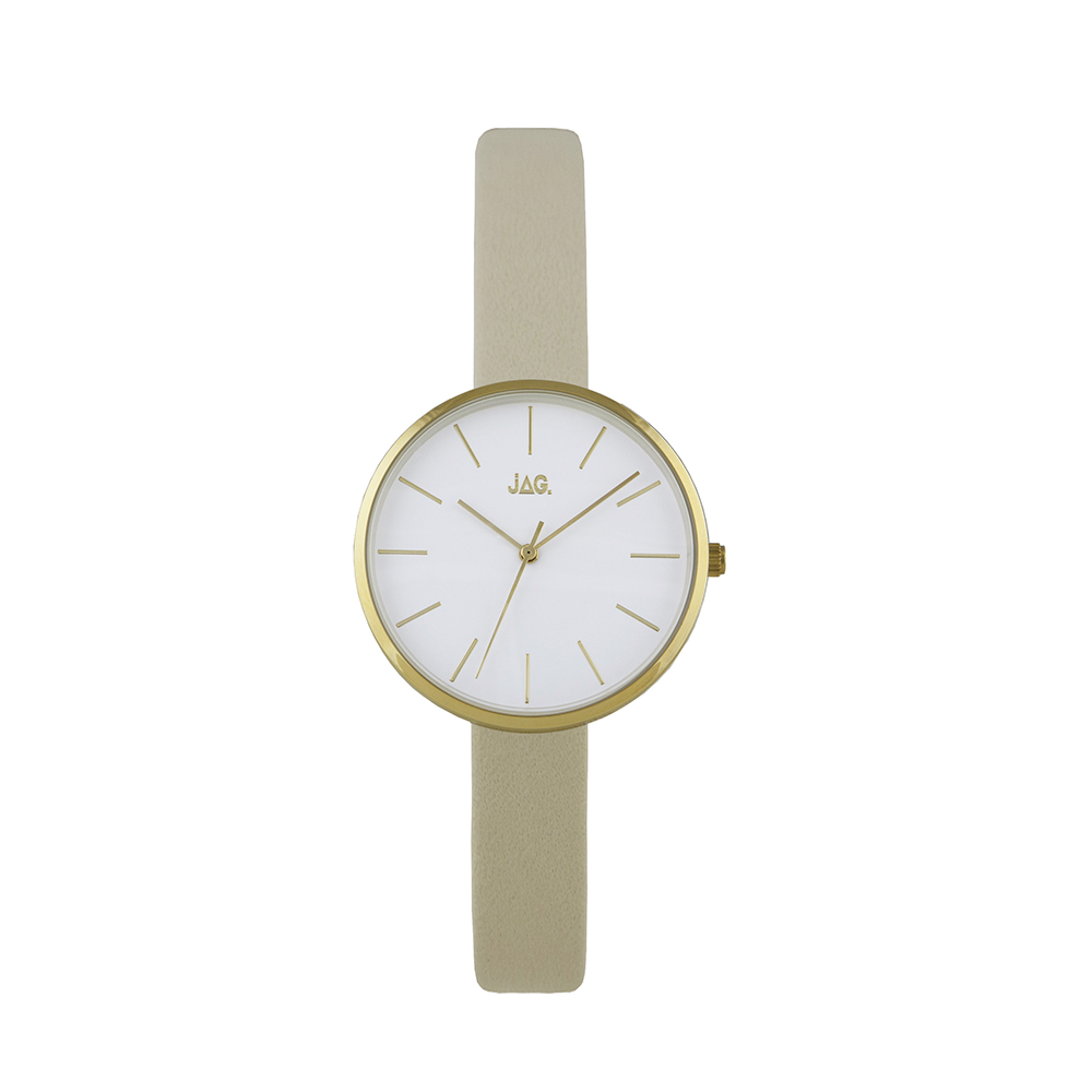 Jag Julia J2187 Beige Leather Womens Watch