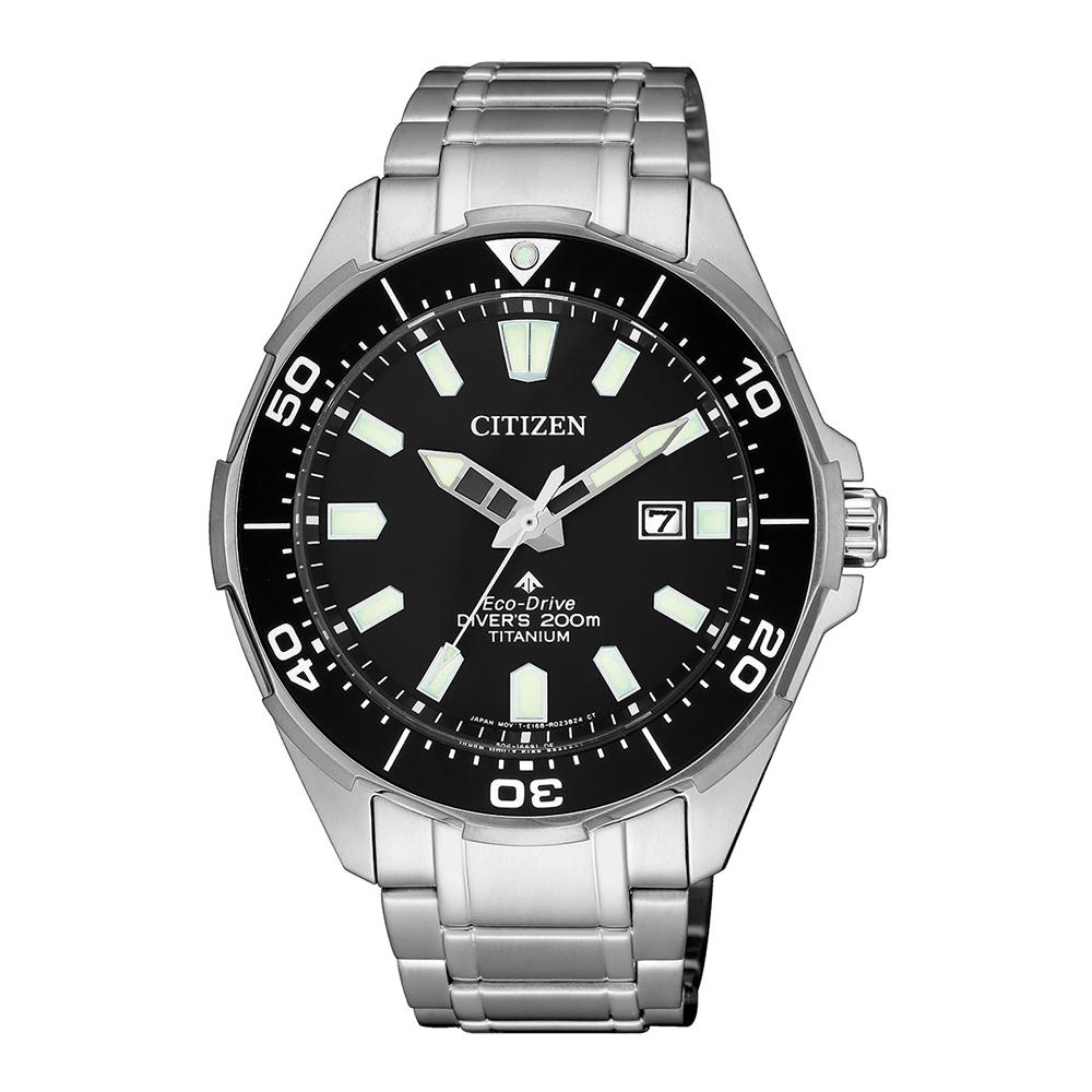 Citizen Eco-Drive Promaster BN0200-81E Silver Titanium Mens Watch