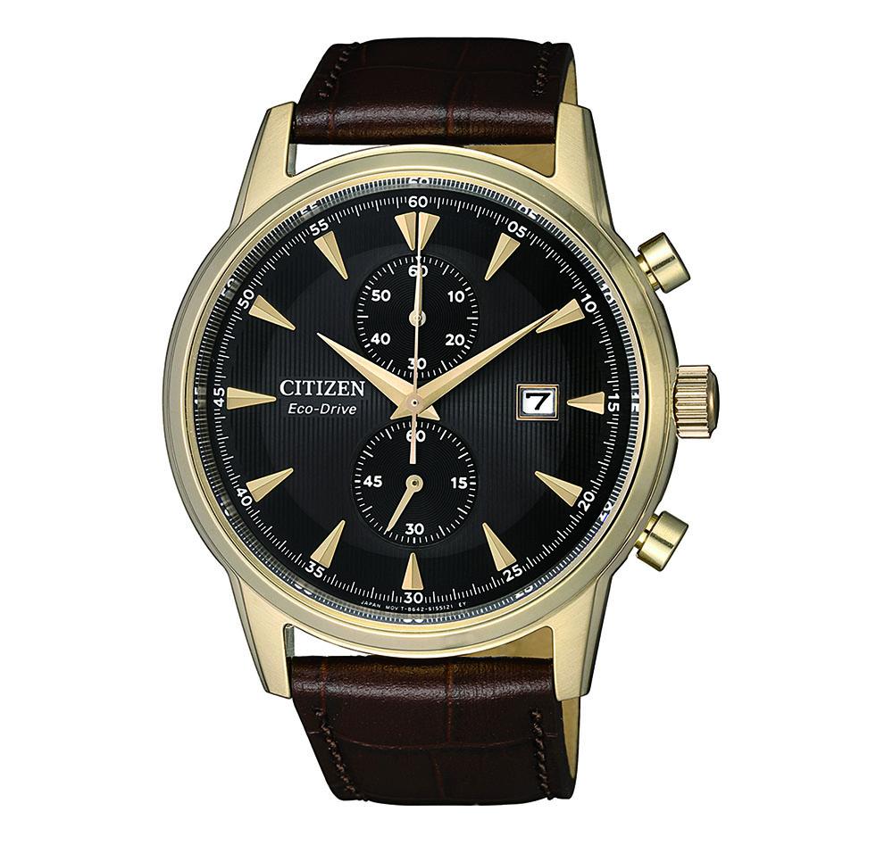 Citizen Eco-Drive Elegant CA7008-11E Brown Leather Mens Watch