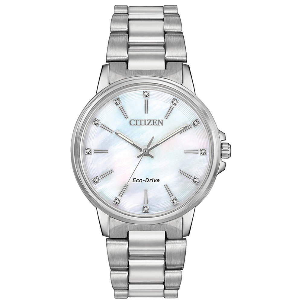 Citizen Eco-Drive Swarovski FE70730-57D Silver Stainless Steel Womens Watch