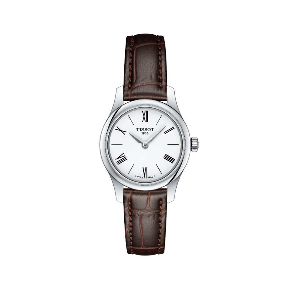 Tissot Tradition Lady T0630091601800 Brown Leather Womens Watch