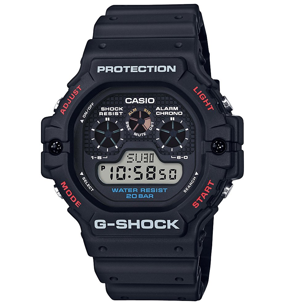 G Shock DW5900-1DR Black Resin Mens Watch