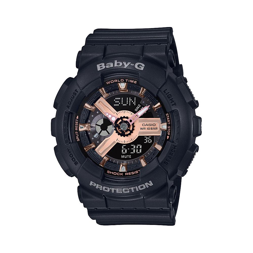 Baby-G BA110RG-1AR Black Resin Womens Watch
