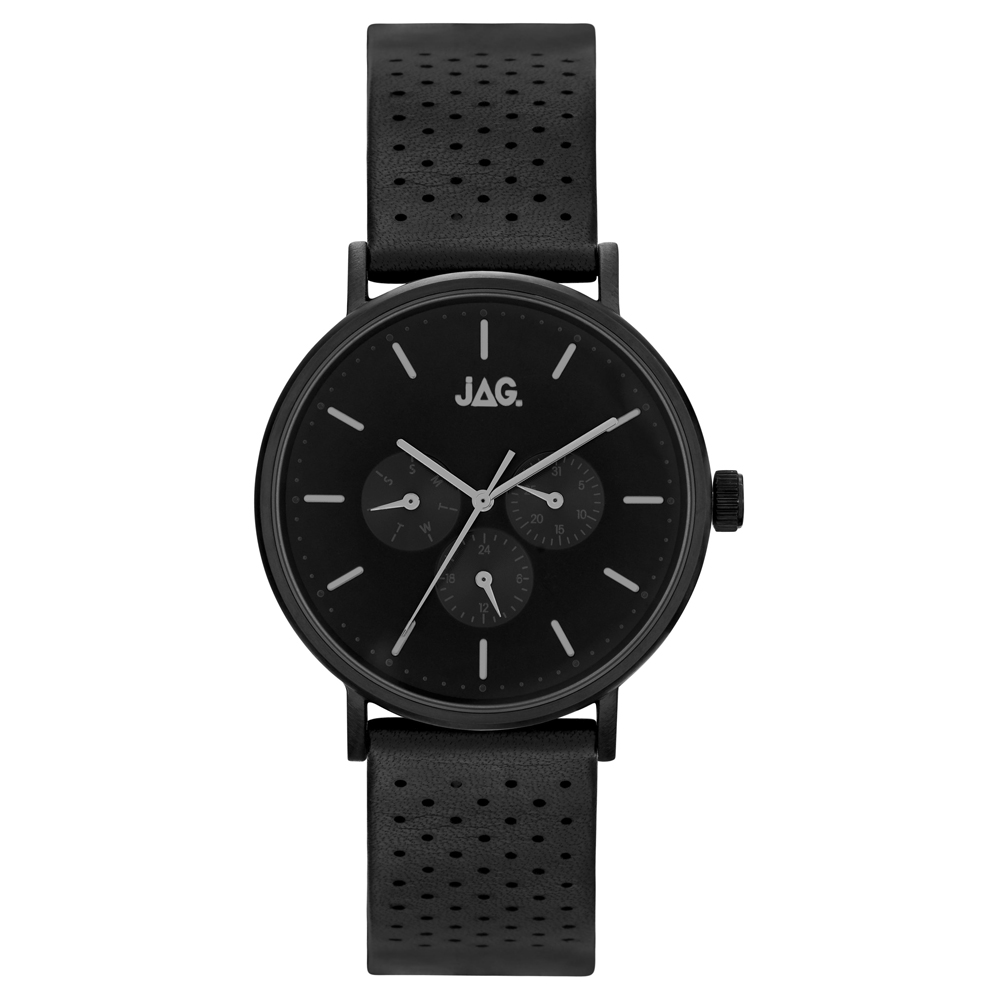 Jag J2246 Black Leather Mens Watch