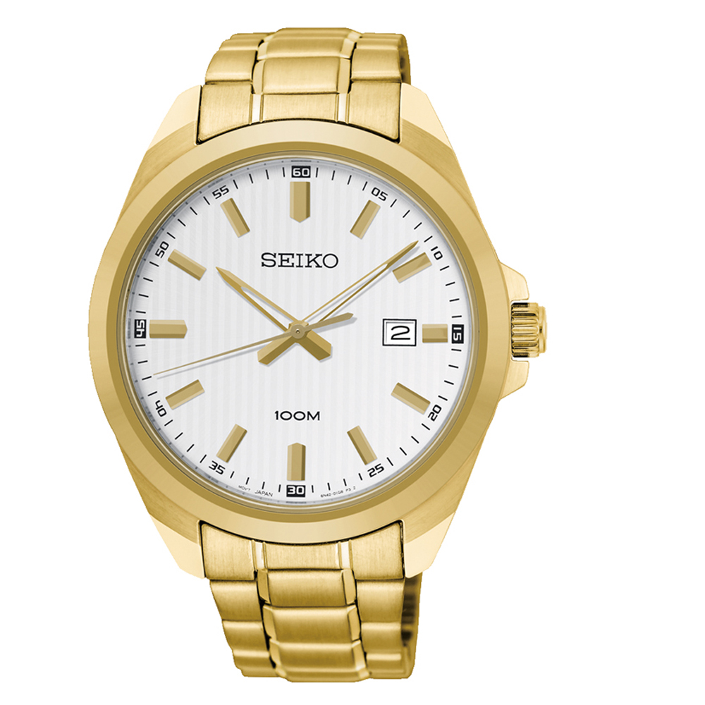 Seiko SUR280P Gold Stainless Steel Mens Watch