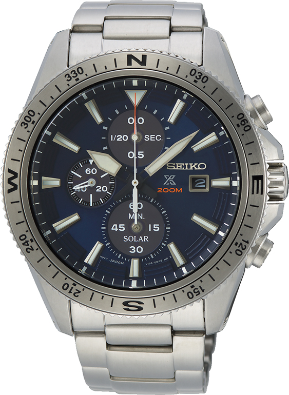 Seiko Prospex SSC703P Silver Stainless Steel Mens Watch