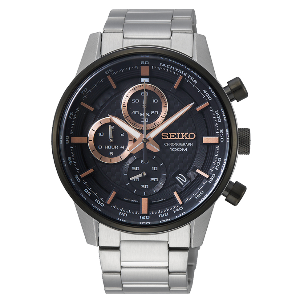 Seiko SSB331P Silver Stainless Steel Mens Watch