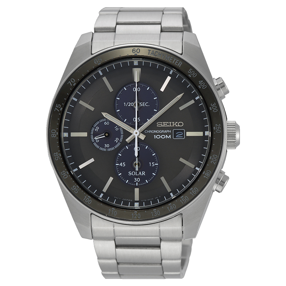 Seiko SSC715P Silver Stainless Steel Mens Watch