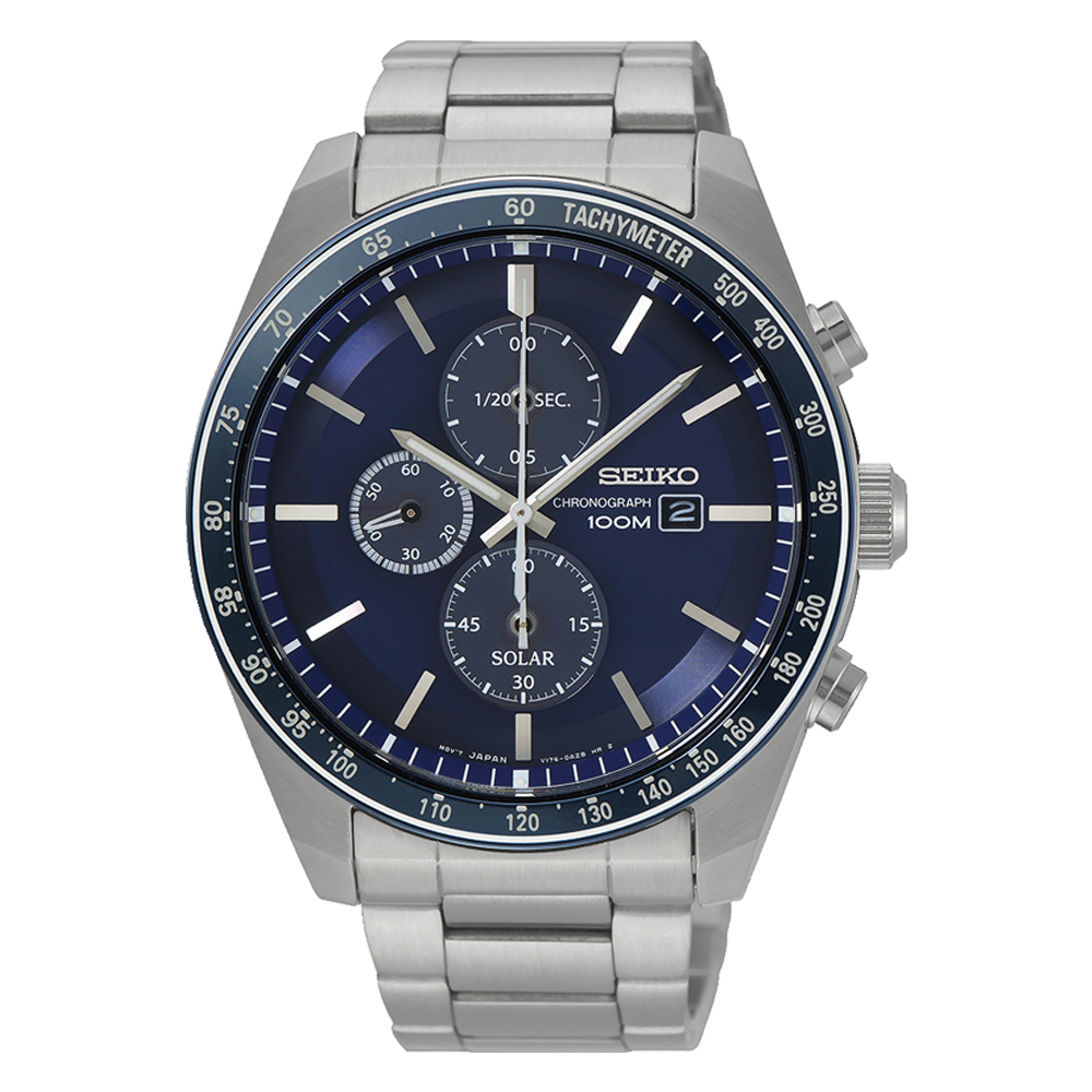 Seiko SSC719P Silver Stainless Steel Mens Watch
