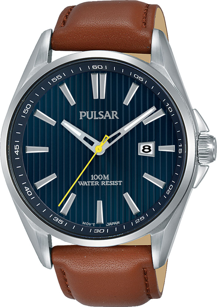Pulsar PS9607X Brown Leather Mens Watch