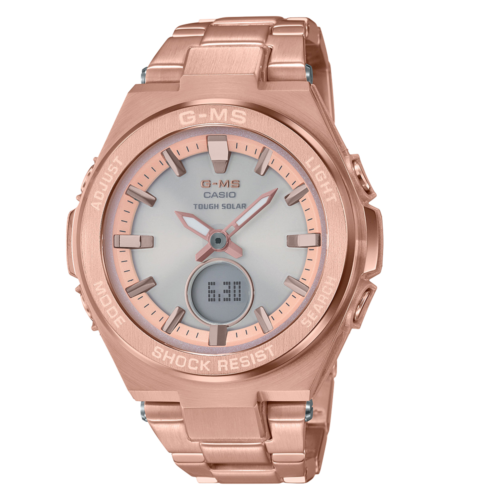Baby-G MSGS200DG-4A Rose-Coloured Stainless Steel Womens Watch