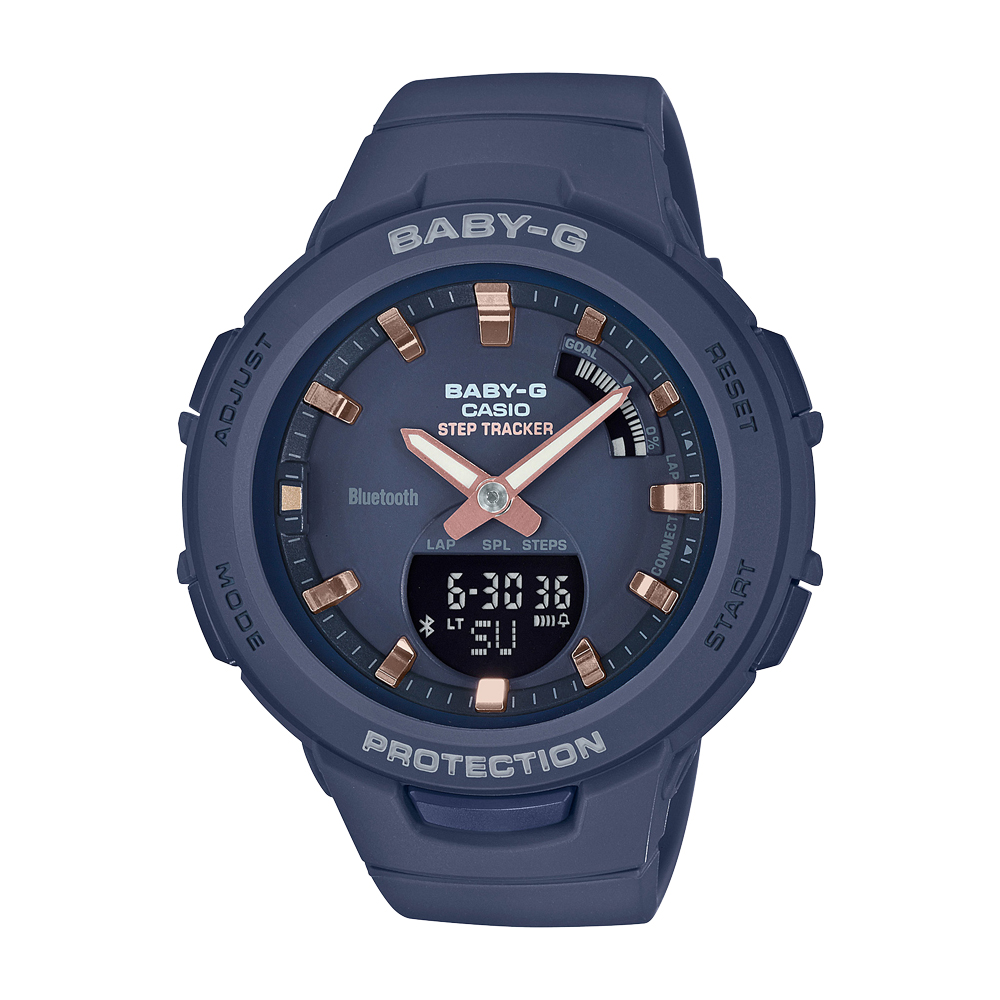 Baby-G BSAB100-2A Blue Resin Womens Watch