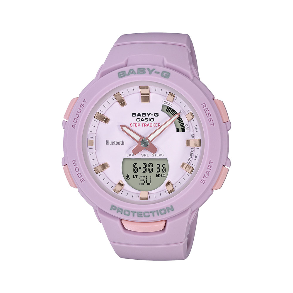 Baby-G BSAB100-4A2 Pink Resin Womens Watch