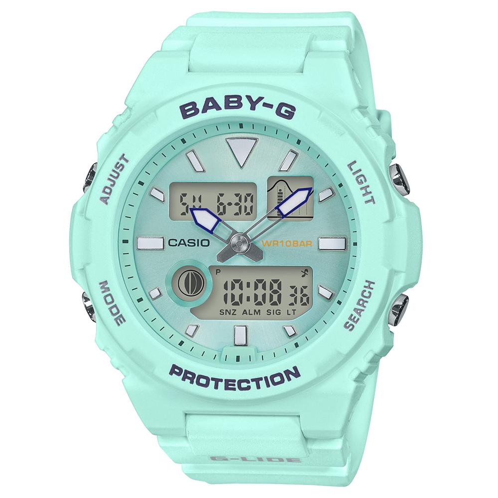 Baby-G G-Lide BAX-100-3ADR Blue Resin Womens Watch
