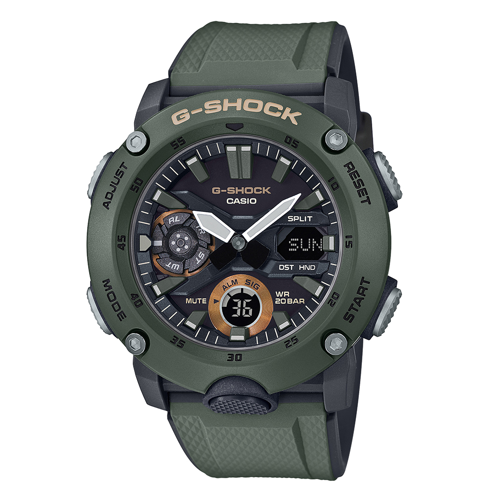 G-Shock GA-2000-3ADR Green Resin Mens Watch
