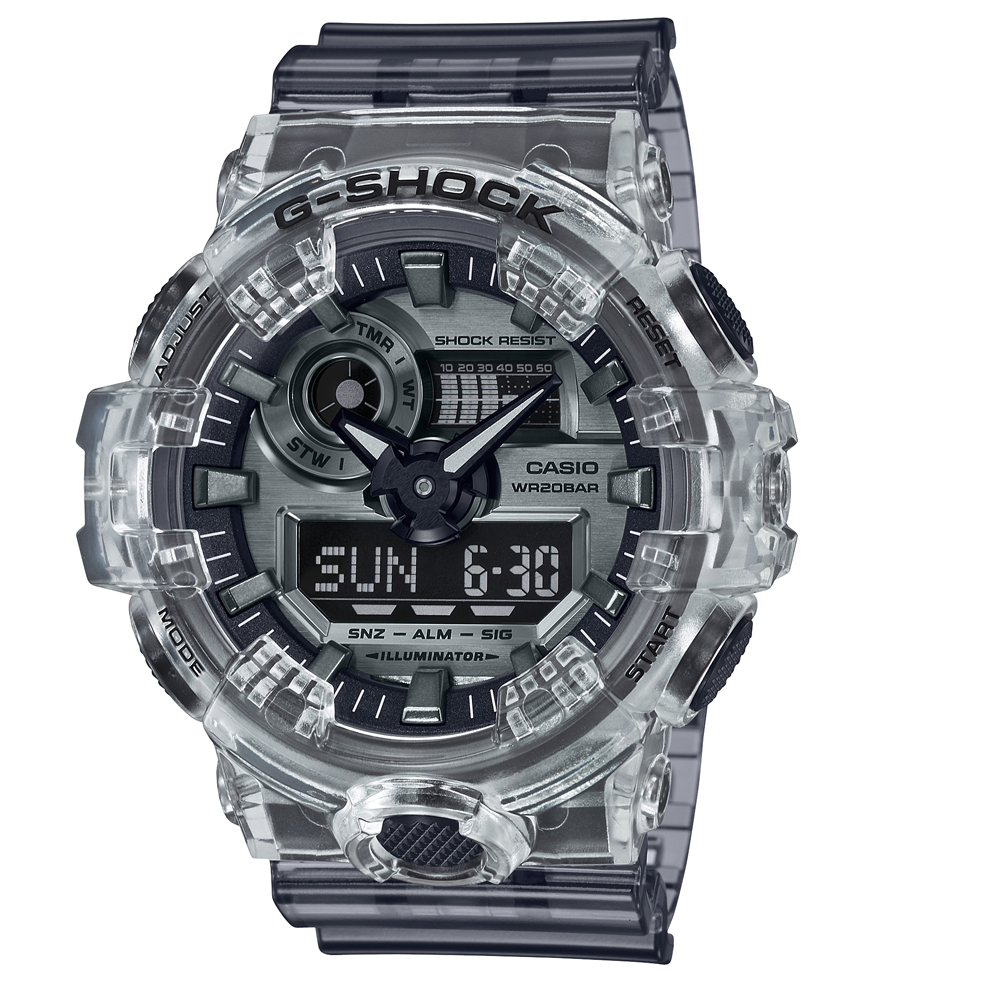 G-Shock GA-700SK-1ADR Clear Resin Mens Watch