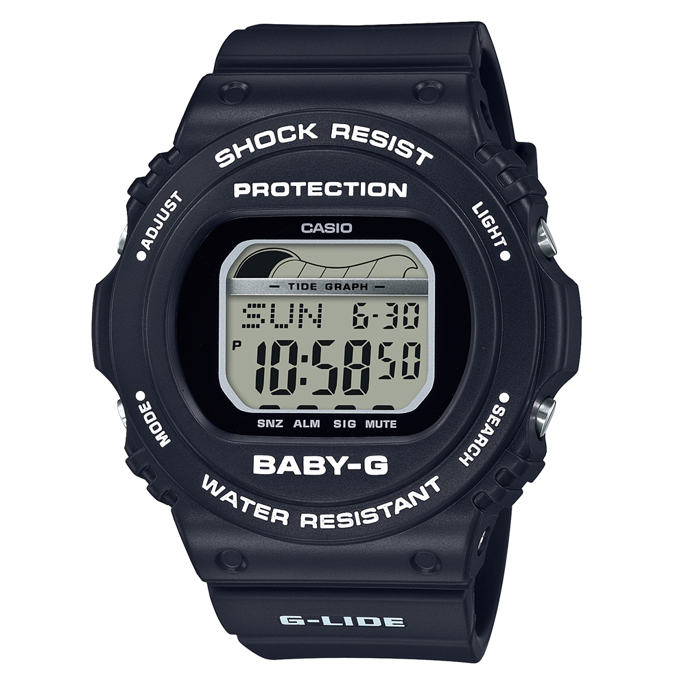 Baby-G BLX-570-1DR Black Resin Womens Watch
