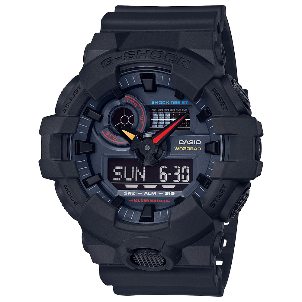 Casio G-Shock GA-700BMC-1DR Black Resin Mens Watch