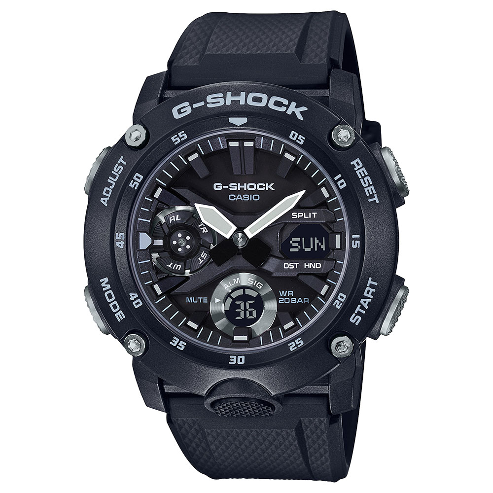 Casio G-Shock GA-2000S-1ADR Black Resin Mens Watch