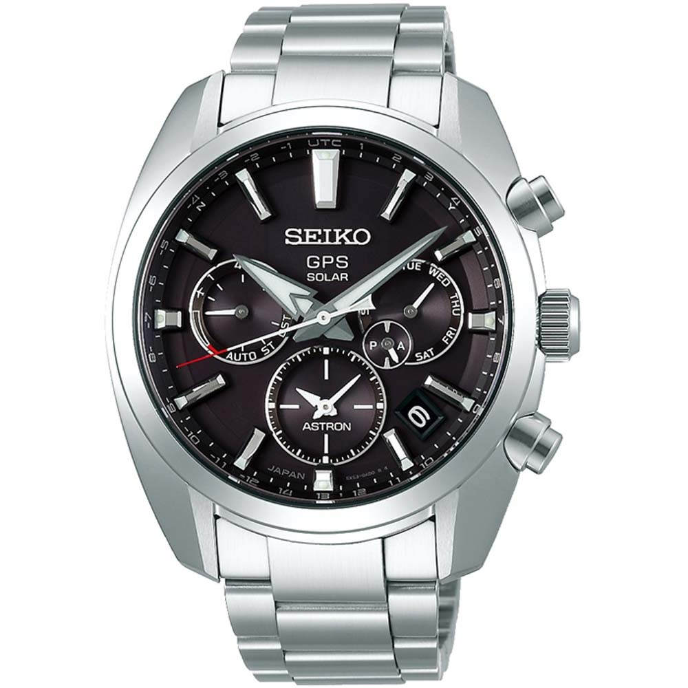 Seiko Astron SSH021J Silver Stainless Steel Mens Watch