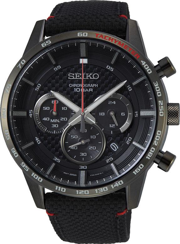 Seiko SSB359P Black Nylon Mens Watch