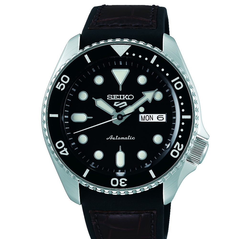 Seiko 5 SRPD55K Silver Stainless Steel Mens Watch