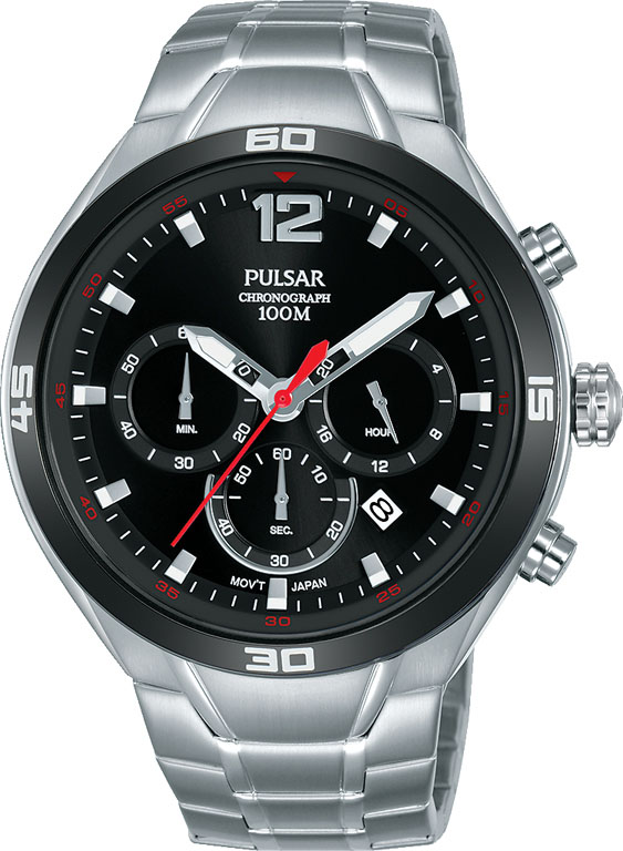 Pulsar PT3A31X Silver Stainless Steel Mens Watch