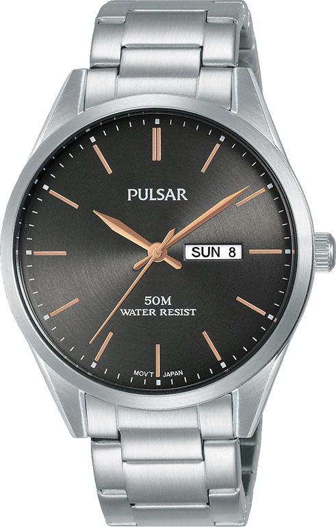 Pulsar PJ6111X Silver Stainless Steel Mens Watch