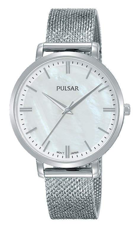 Pulsar PH8459X Silver Stainless Steel Mesh Womens Watch