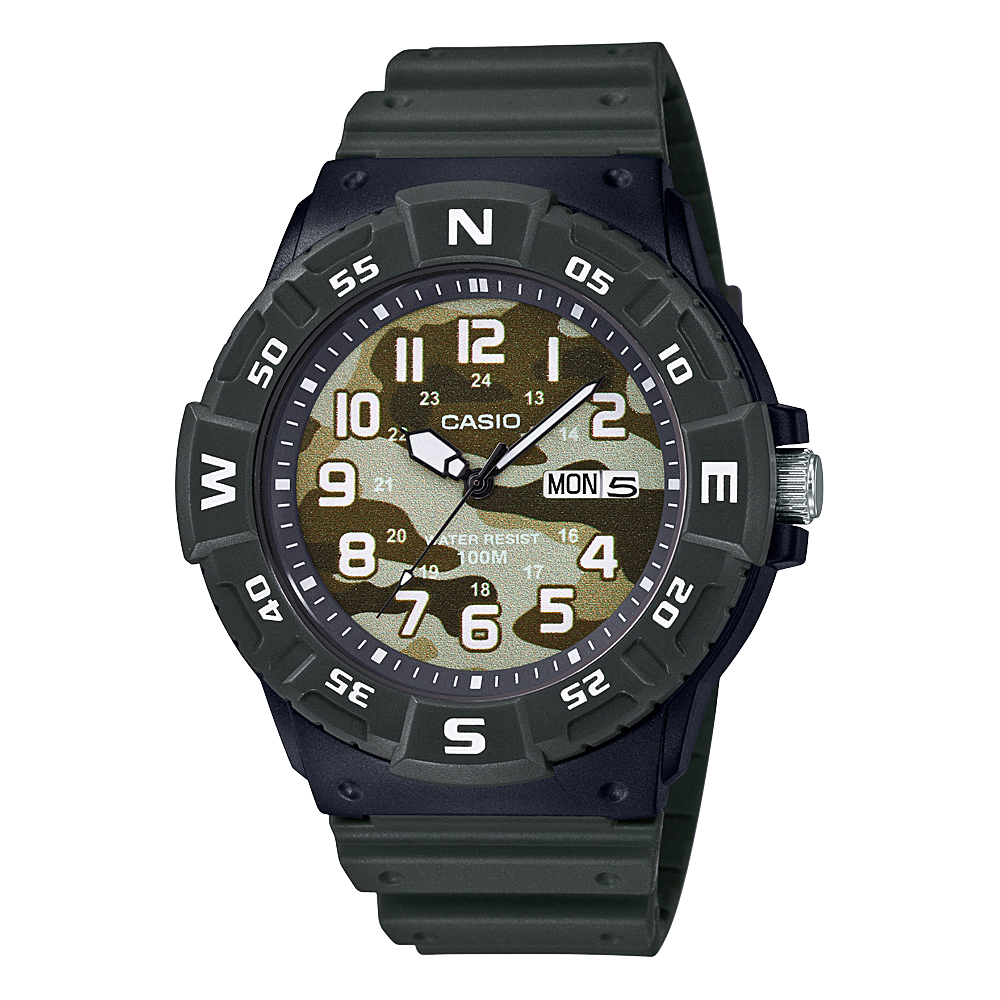 Casio MRW220HCM-3B Green Resin Youth Watch