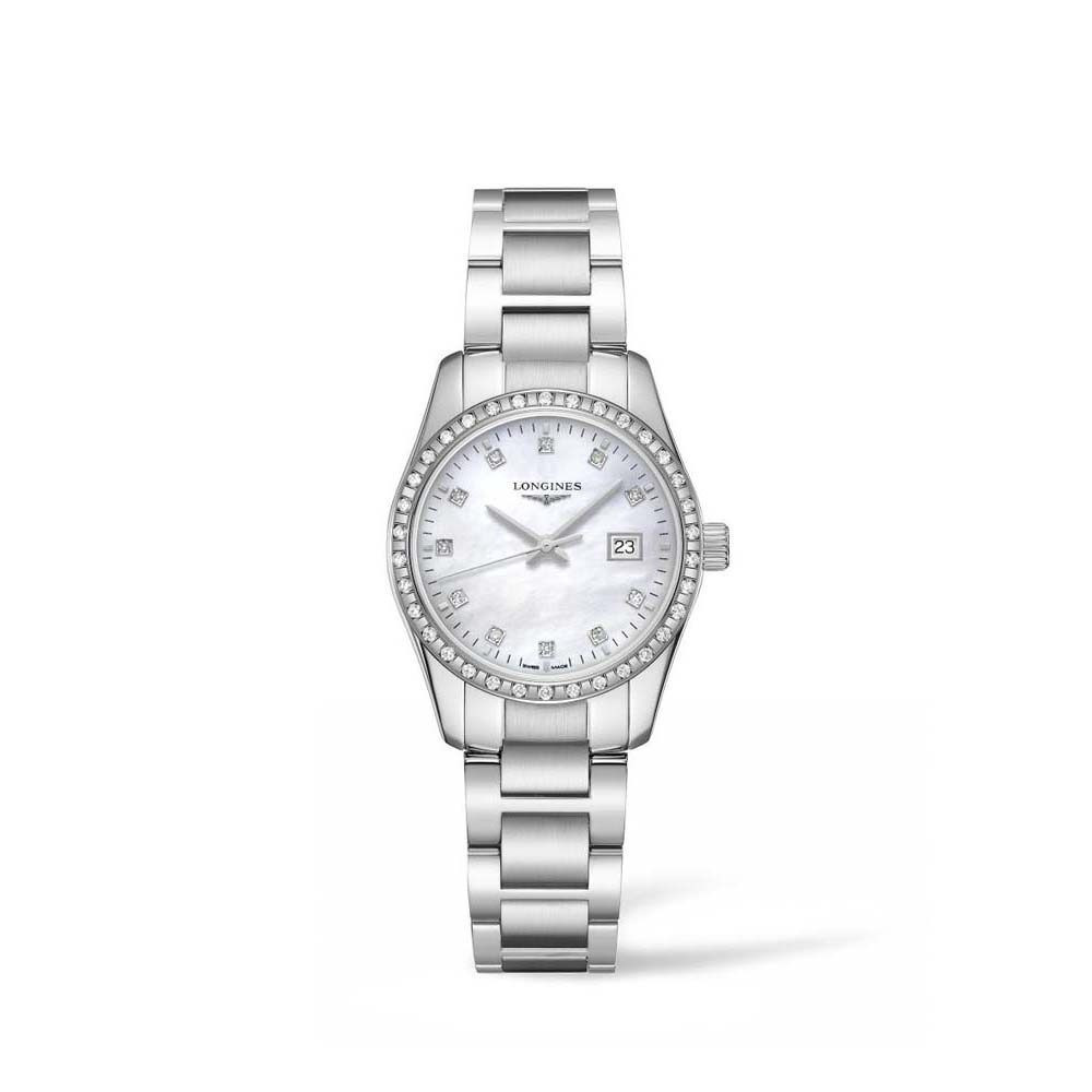 Longines Conquest Classic L22860876 Mother of Pearl Diamond Set Stainless Steel