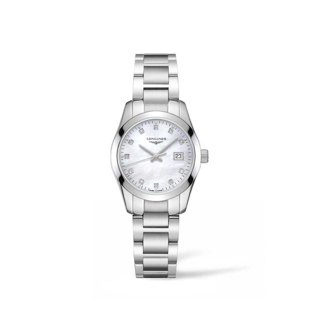 Longines Conquest Classsic L22864876 Mother of Pearl Diamond Set Stainless Steel