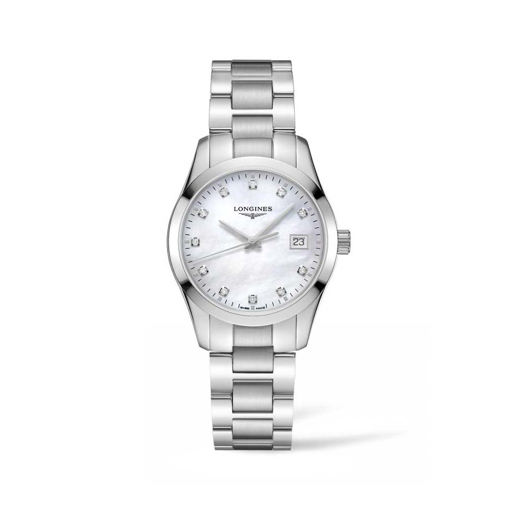 Longines Conquest Classis L23864876 Mother of Pearl Stainless Steel Womens Watch