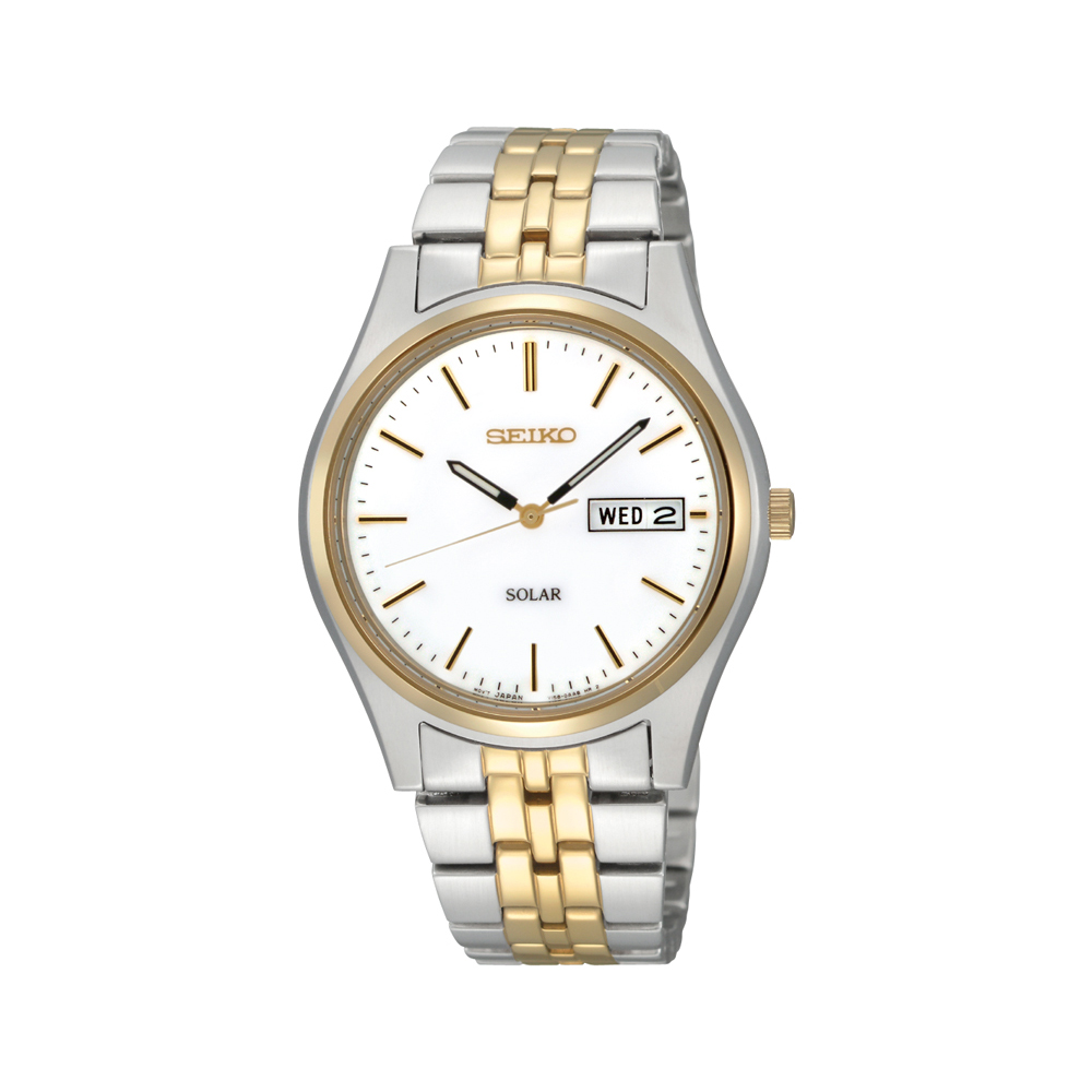 Seiko SNE032P-9 Two-Tone Stainless Steel Mens Watch