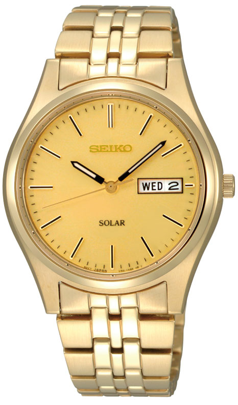 Seiko SNE036P-9 Gold Stainless Steel Mens Watch