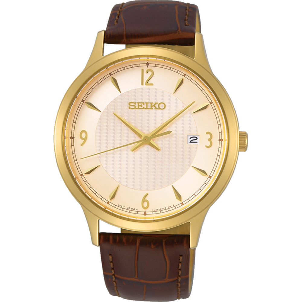 Seiko SGEH86P Brown Leather Mens Watch