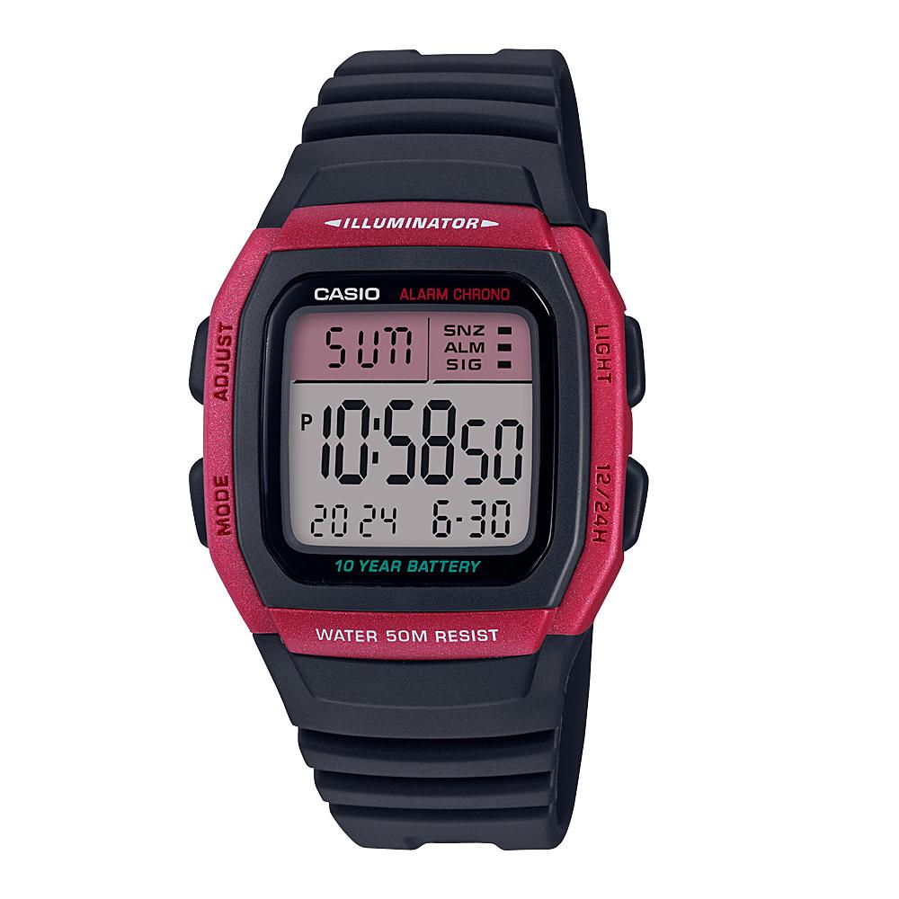 Casio W96H-4A Digital Black Resin Youth Watch