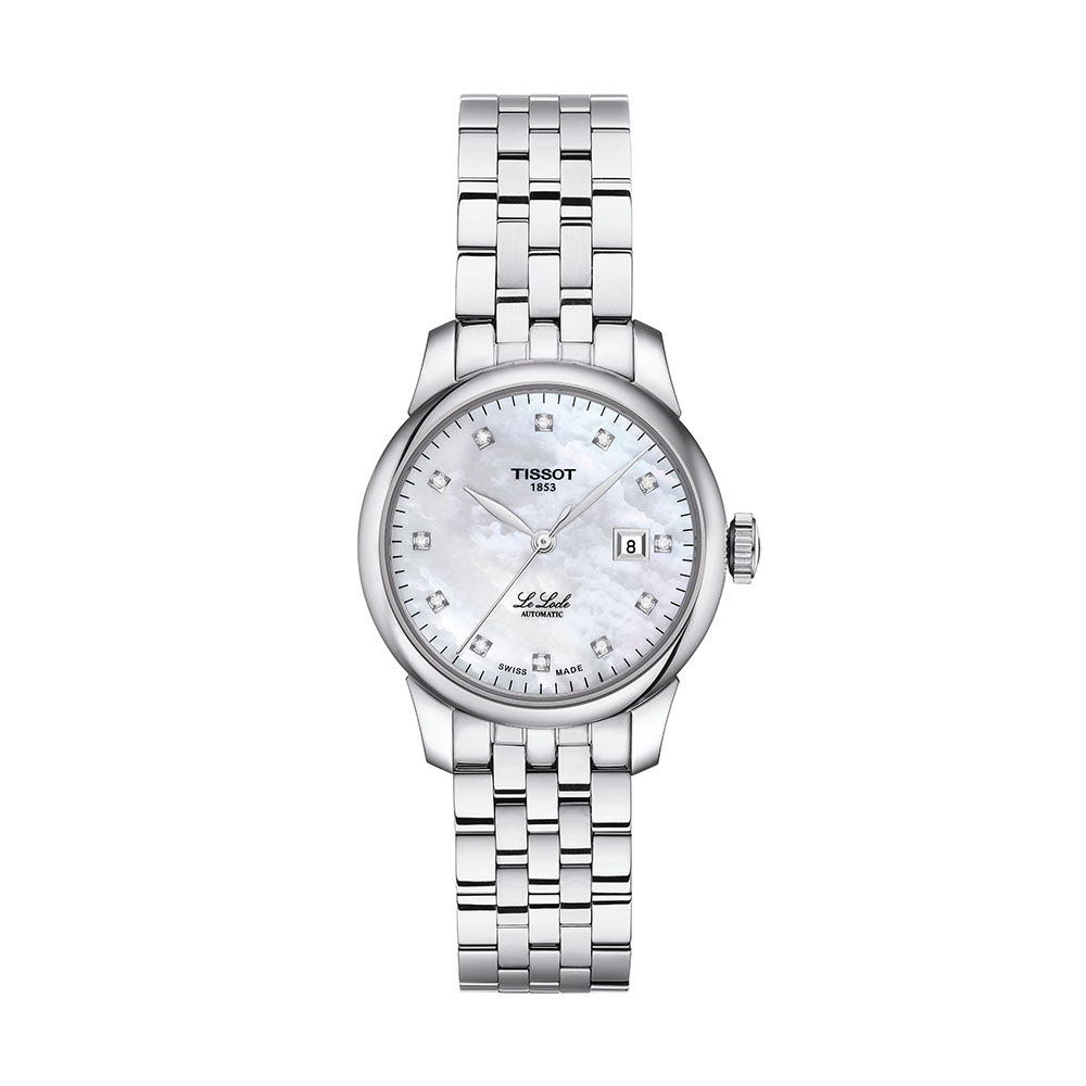 Tissot Le Locle Automatic Lady T0062071111600 12 Diamods Stainless Steel Watch