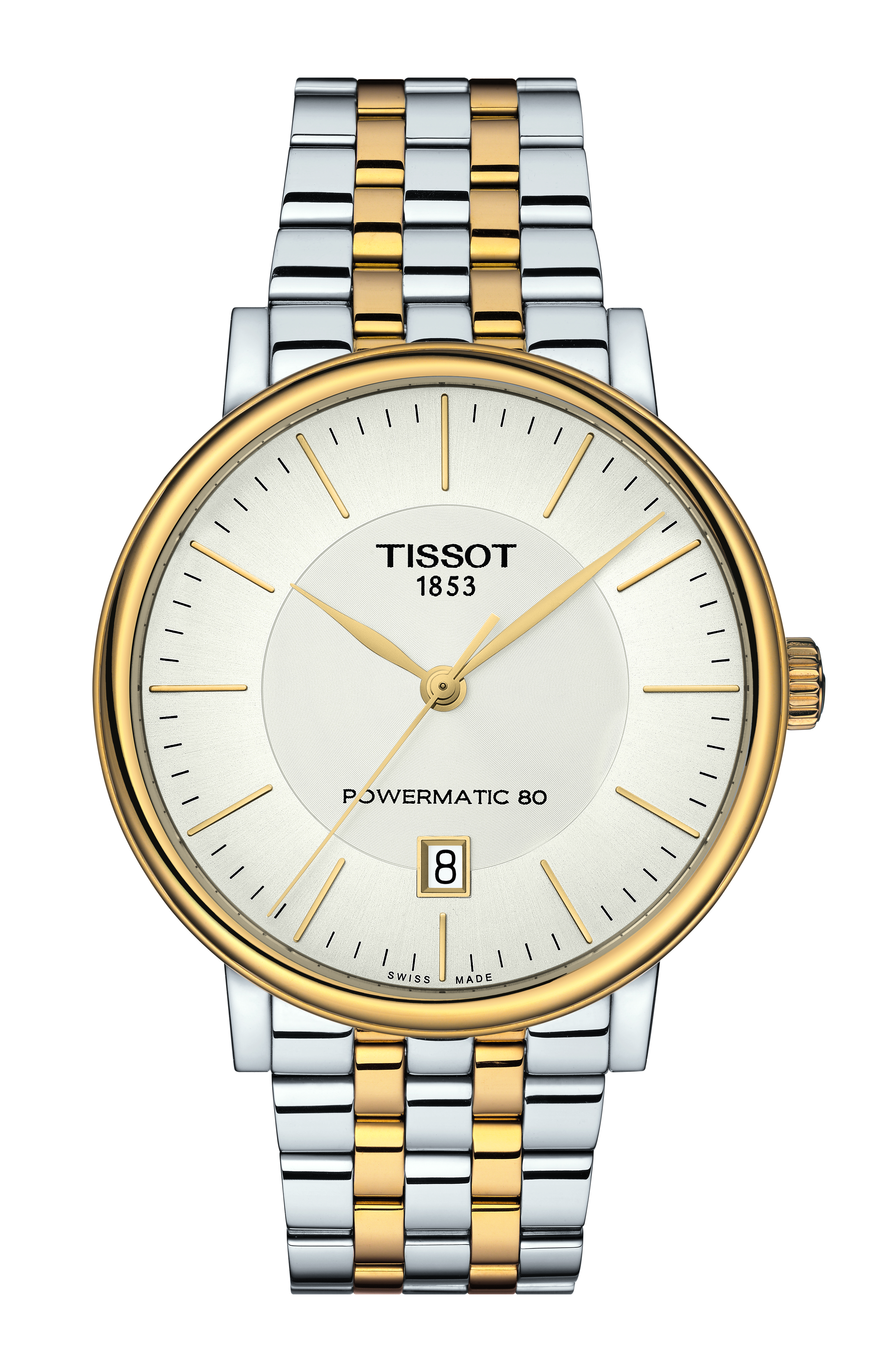 Tissot Carson Powermatic 80 T1224072203100 Stainless Steel Mens Watch