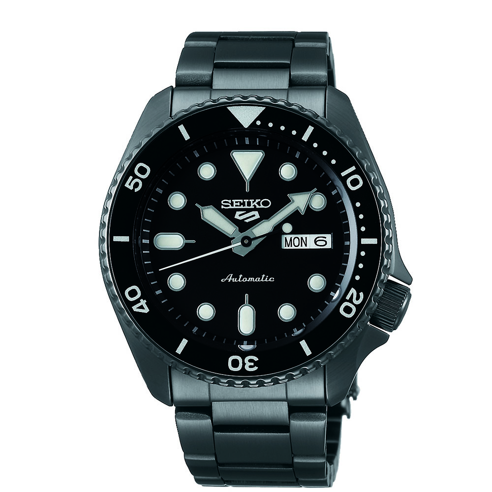 Seiko 5 SRPD65K Automatic Black Stainless Steel Mens Watch
