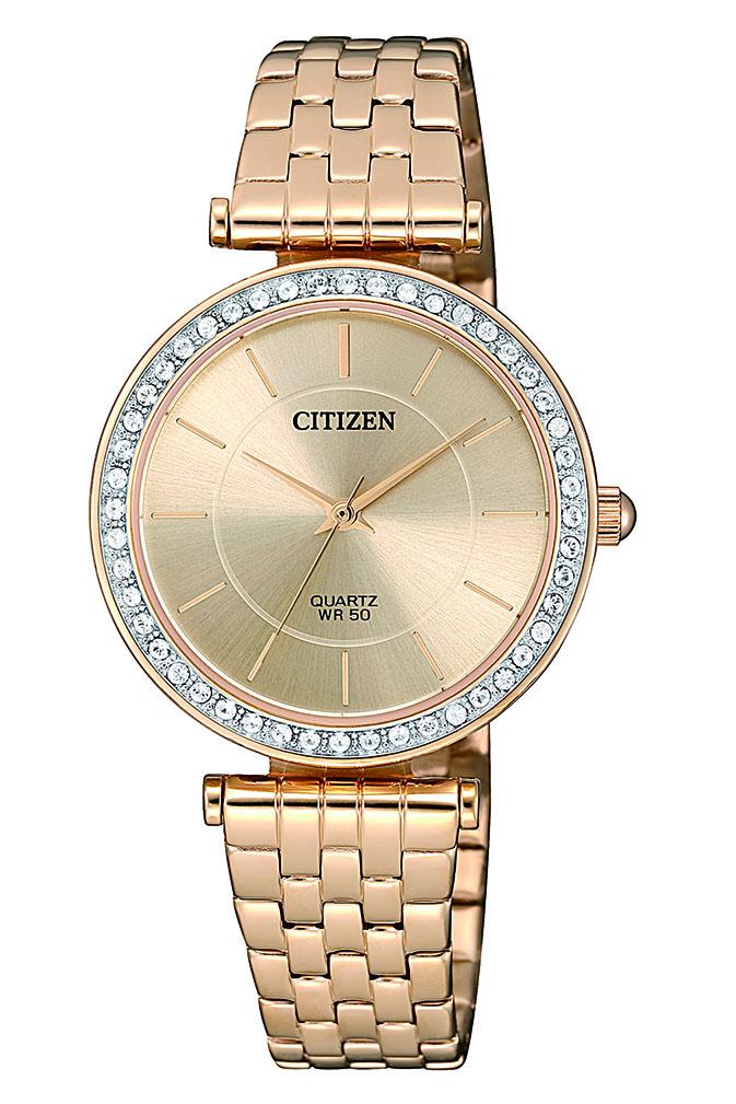 Citizen ER0213-57X Swarovski Gold Stainless Steel Womens Watch