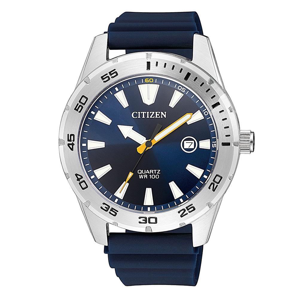 Citizen BI1041-22L Blue Rubber Mens Watch