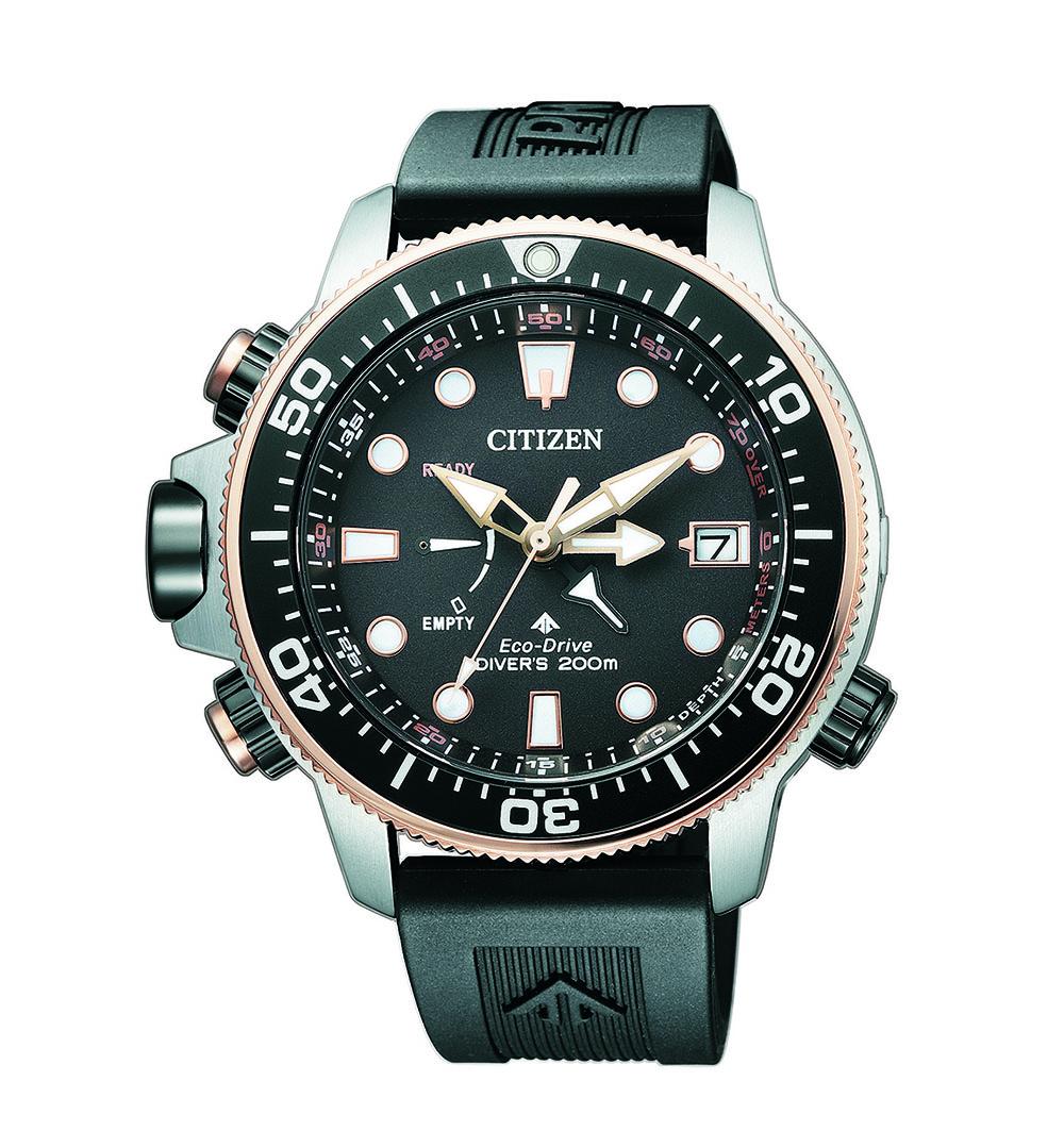 Citizen Promaster Aqualand Eco-Drive BN2037-11E Black Rubber Mens Watch
